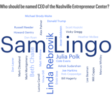 Who should be named CEO of the Nashville Entrepreneur Center?
