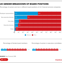 Women in Financial Sector - Gender Breakdown